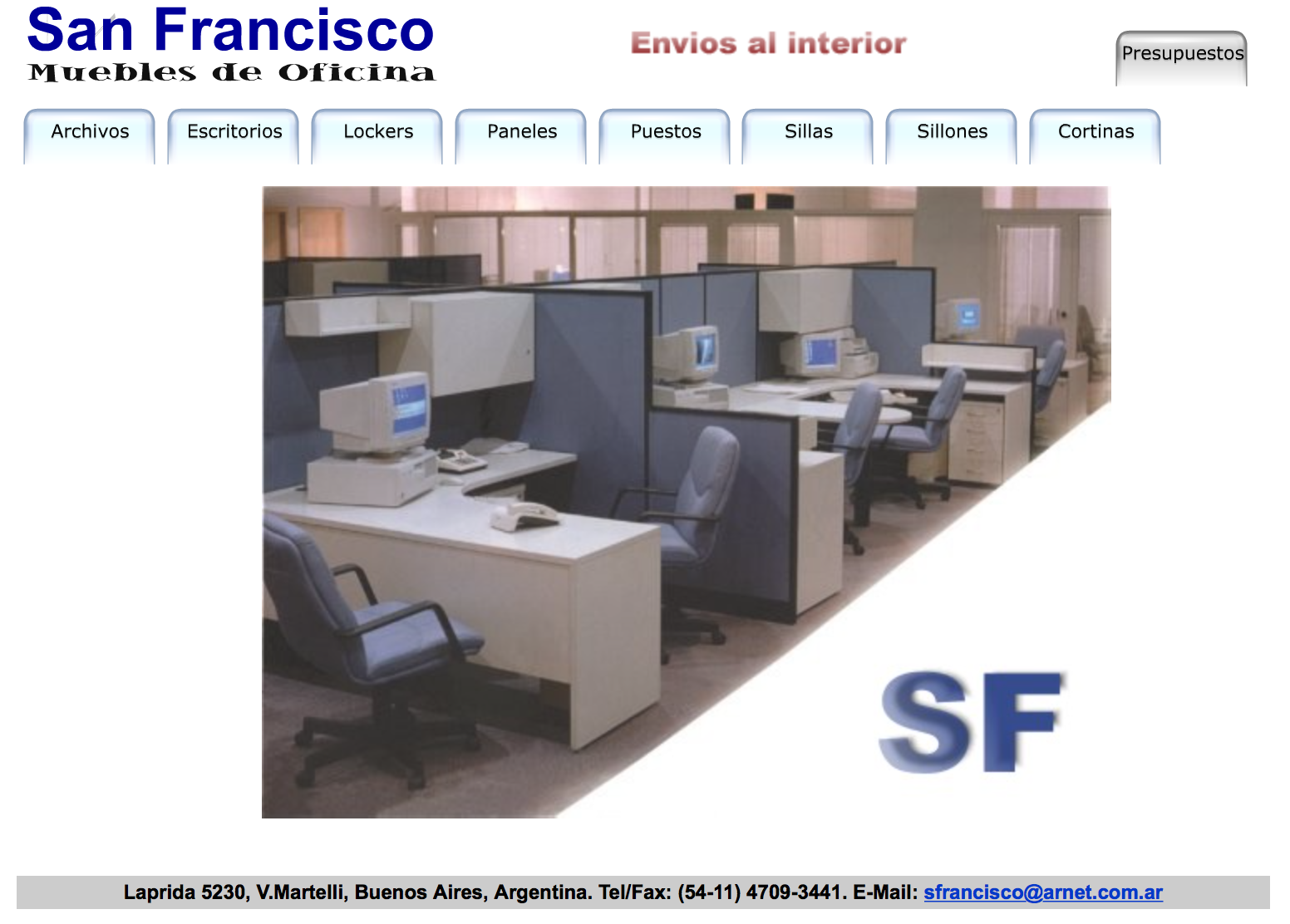 San francisco muebles a website from the 90 s lantean for Muebles san francisco